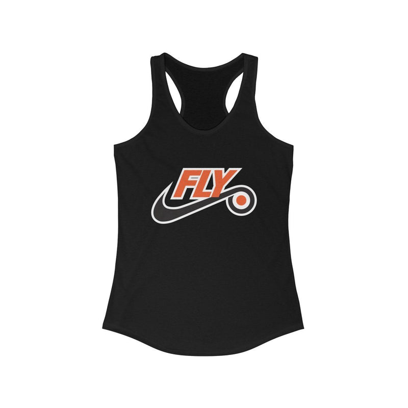 Just Fly Racerback Tank Tank Top Printify Solid Black XS