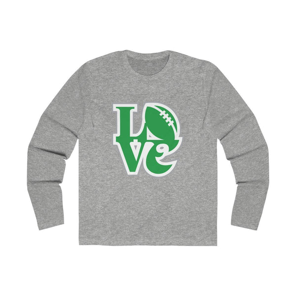 Eagles LOVE (Long Sleeve) Long-sleeve Printify Solid Heather Grey L