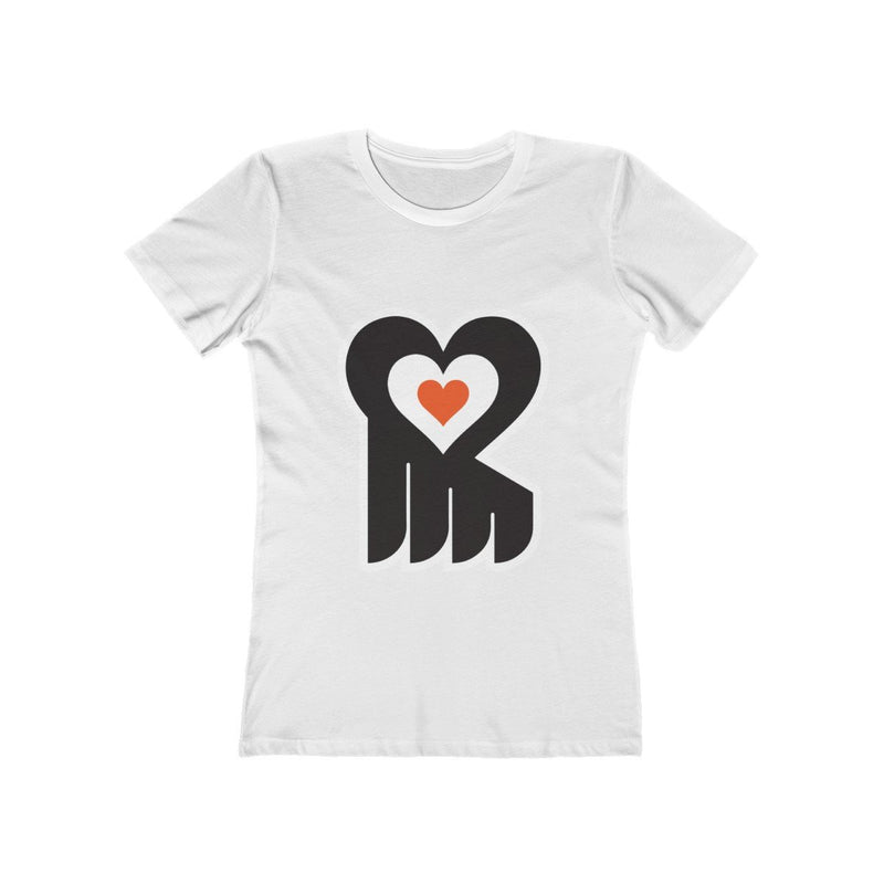 Hockey Heart (W) T-Shirt Printify Solid White S