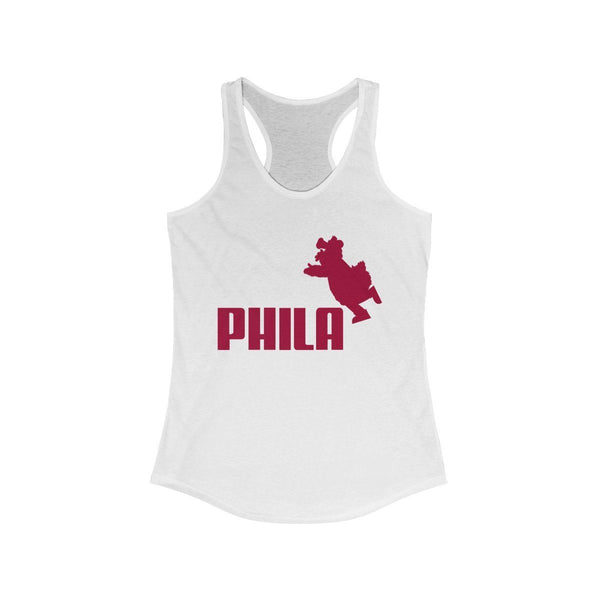 PHILA Phanatic Racerback Tank Tank Top Printify Solid White XS