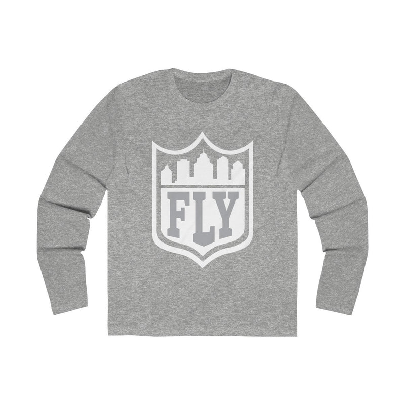 City FLY (Long Sleeve) Long-sleeve Printify Solid Heather Grey S