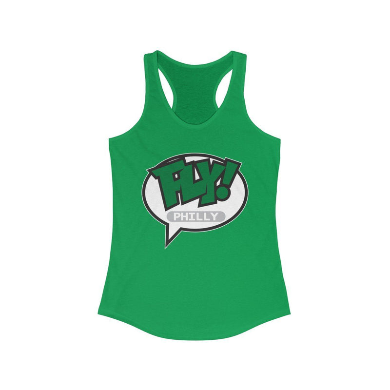 FLY Philly Racerback Tank Tank Top Printify Solid Kelly Green XS