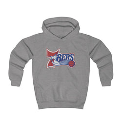 Retro 6ers Hooded Sweatshirt (Youth) Kids clothes Printify Athletic Heather L (8-10yr)