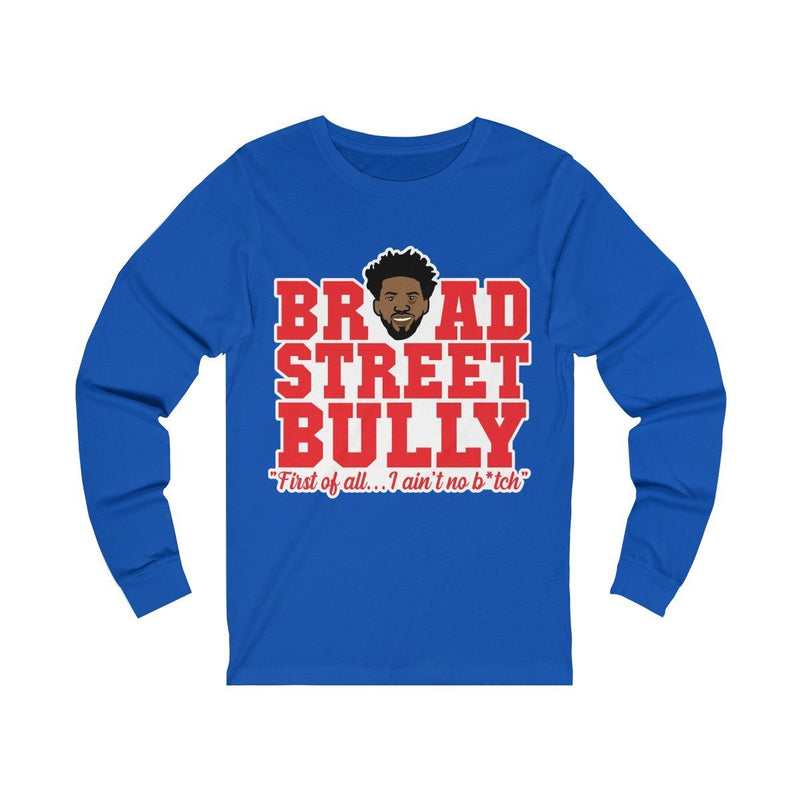 Broad Street Embiid Long-sleeve Printify True Royal S