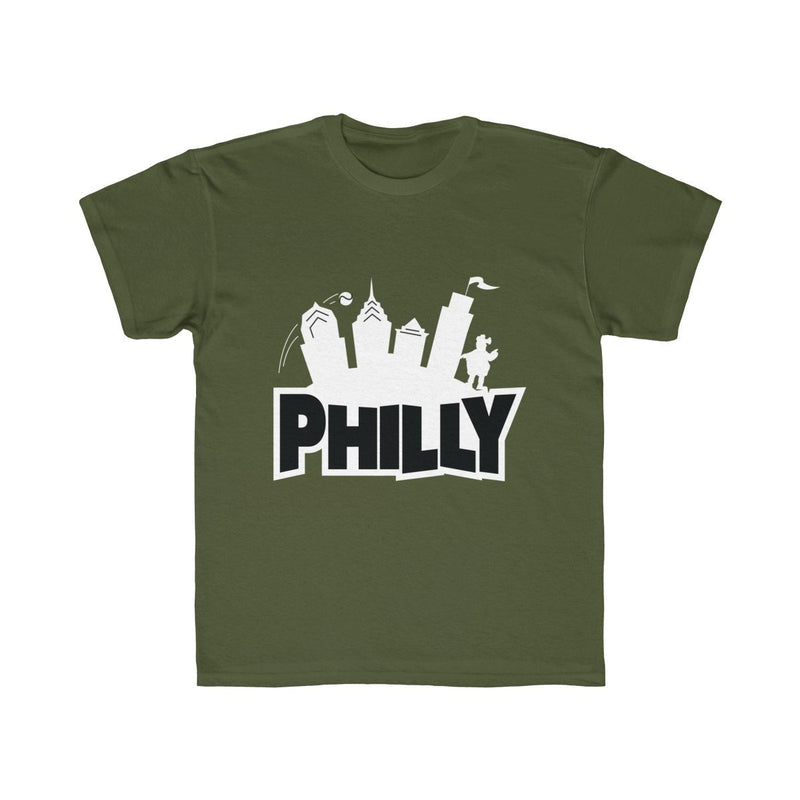 Fortnite Philly (Youth) Kids clothes Printify Moss XS