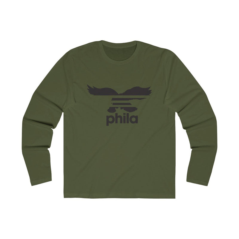 PHILA (Long Sleeve) Long-sleeve Printify Solid Military Green S