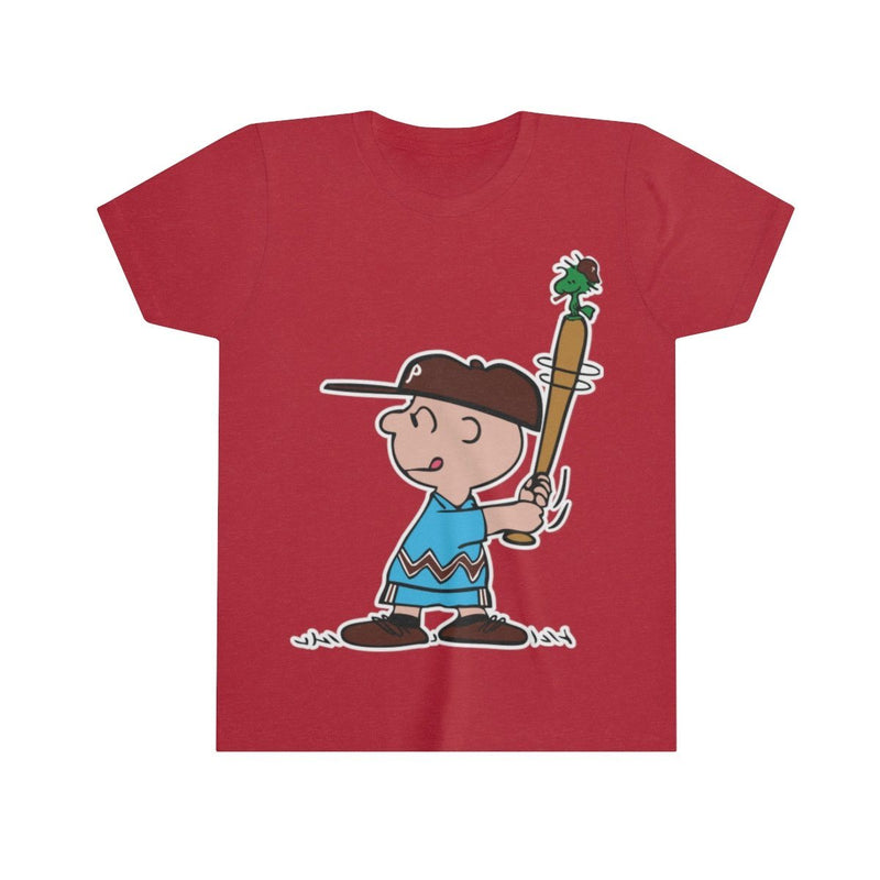 Phillies Peanuts (Youth) Kids clothes Printify Heather Red S