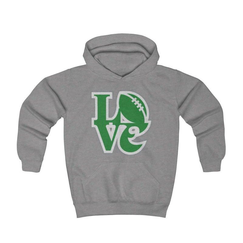 Eagles Love Hoodie (Youth) Kids clothes Printify Athletic Heather S (2-4yr)