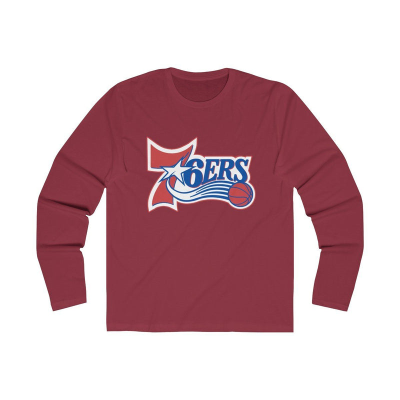 Retro 6ers (Long Sleeve) Long-sleeve Printify Solid Scarlet S