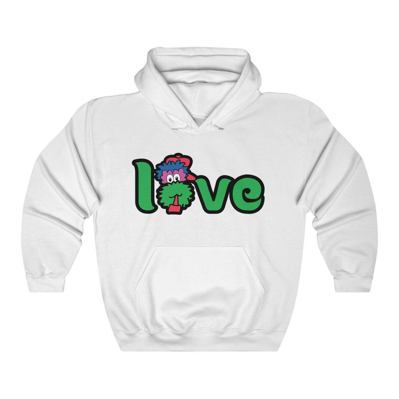 LOVE Hooded Sweatshirt Hoodie Printify White S