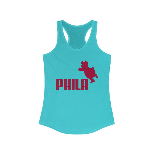 PHILA Phanatic Racerback Tank Tank Top Printify Solid Tahiti Blue L