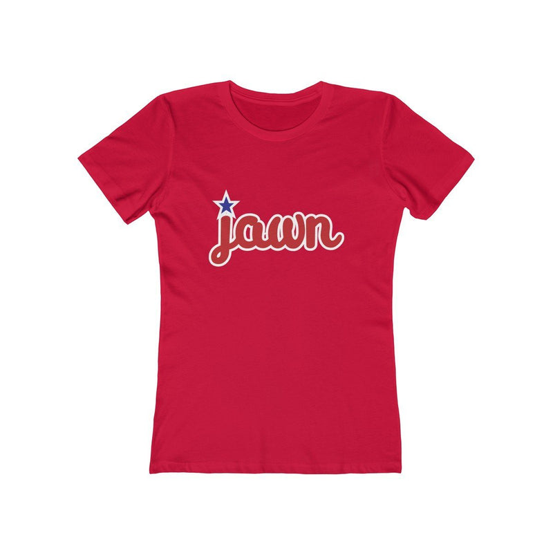 Philly Jawn (W) T-Shirt Printify Solid Red XS