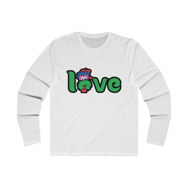 LOVE (Long Sleeve) Long-sleeve Printify Solid White S