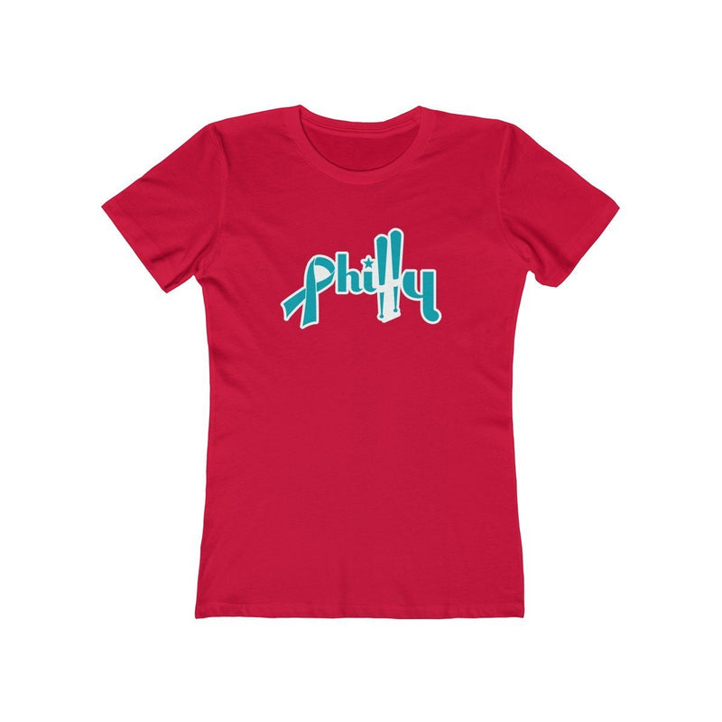 Philly Bats - Cancer Support T-Shirt Printify Solid Red XS