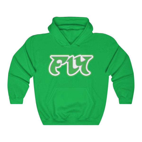 Retro FLY Hoodie Hoodie Printify Irish Green L