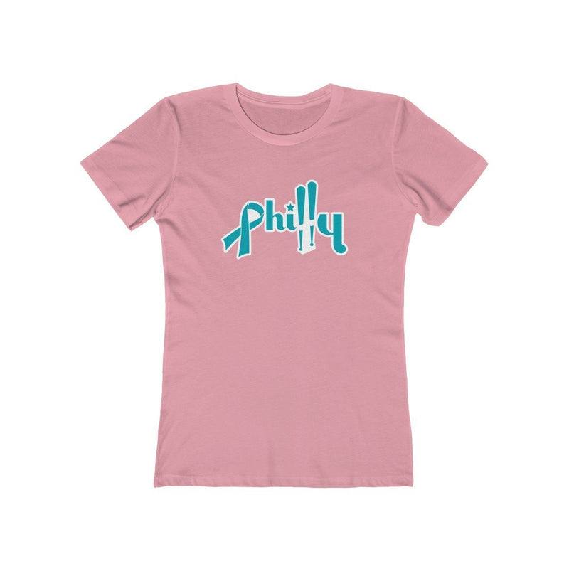 Philly Bats - Cancer Support T-Shirt Printify Solid Light Pink XS