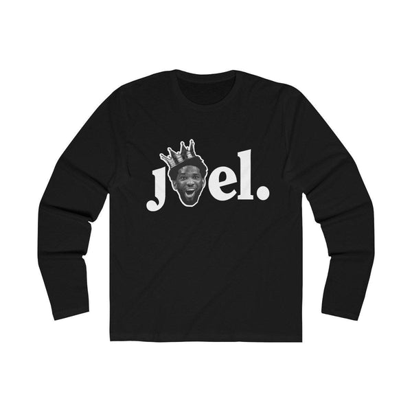 JOEL (Long Sleeve) Long-sleeve Printify Solid Black L