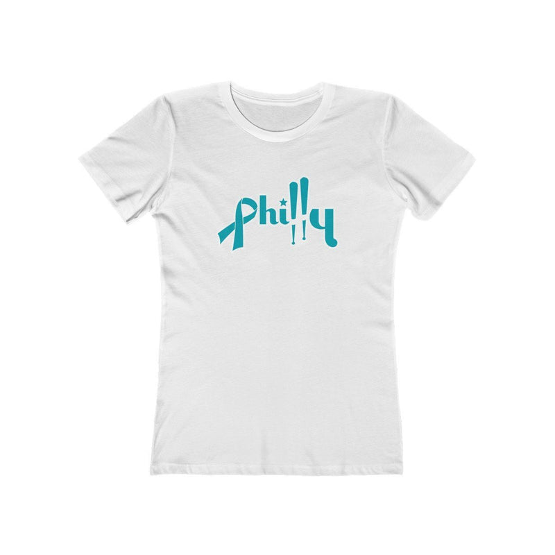 Philly Bats - Cancer Support T-Shirt Printify Solid White L