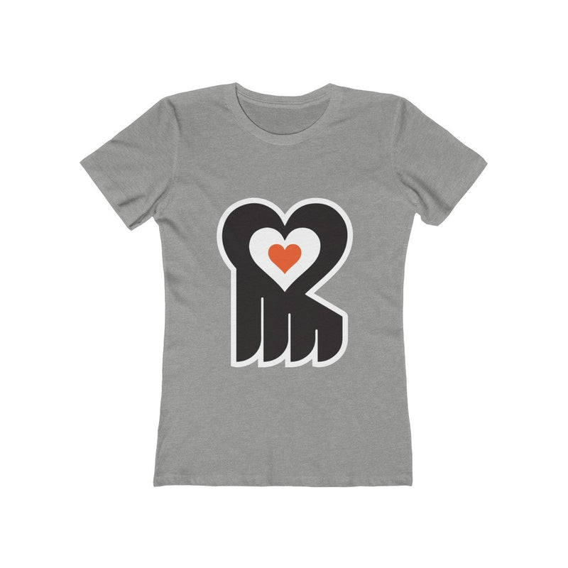 Hockey Heart (W) T-Shirt Printify Heather Grey S