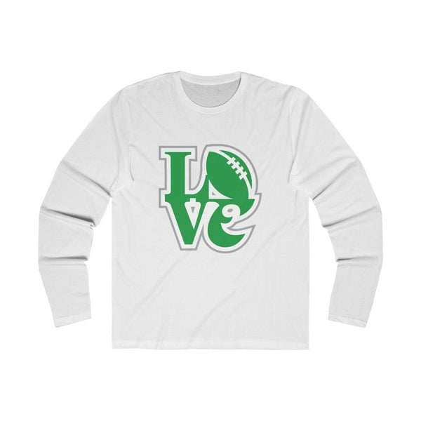Eagles LOVE (Long Sleeve) Long-sleeve Printify Solid White S