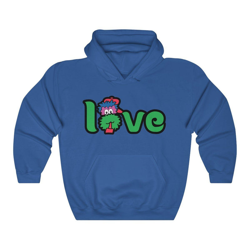 LOVE Hooded Sweatshirt Hoodie Printify Royal L