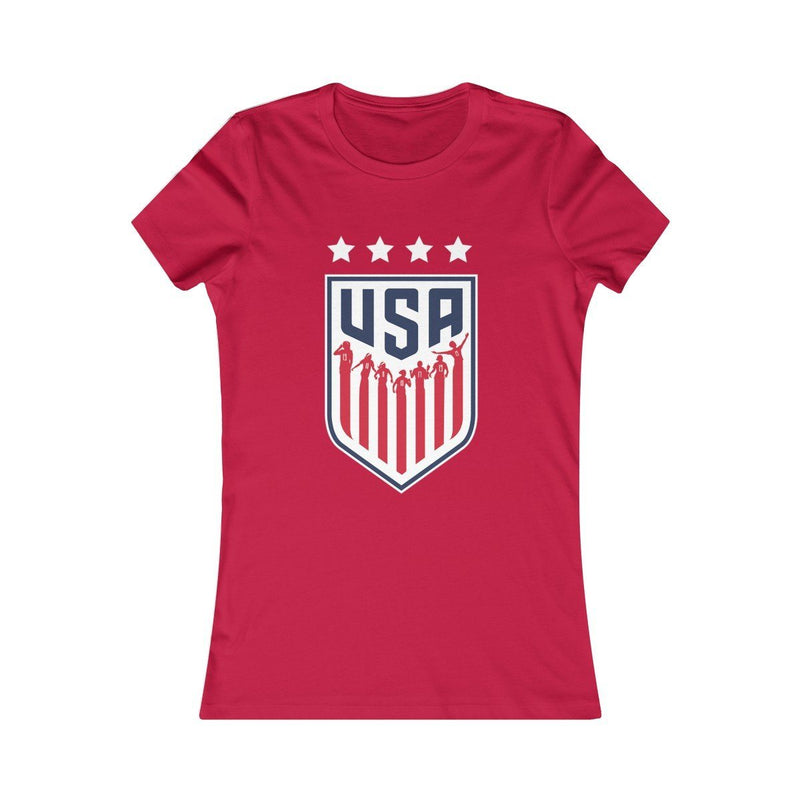 USA Women's Soccer (Woman) T-Shirt Printify Red S