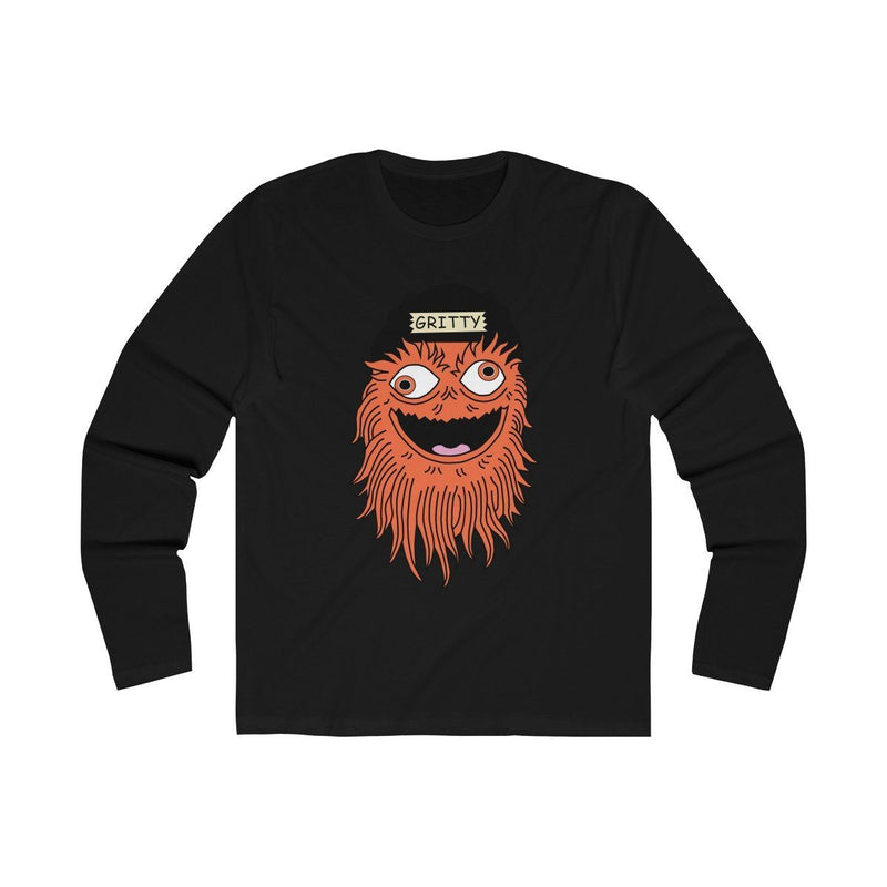 Gettin Gritty With It (Long Sleeve) Long-sleeve Printify Solid Black S