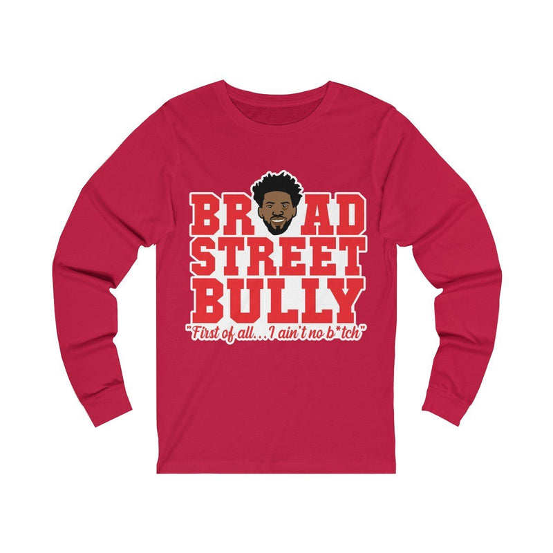 Broad Street Embiid Long-sleeve Printify Red S