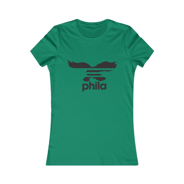 Eagles Stripes (W) T-Shirt Printify Kelly L
