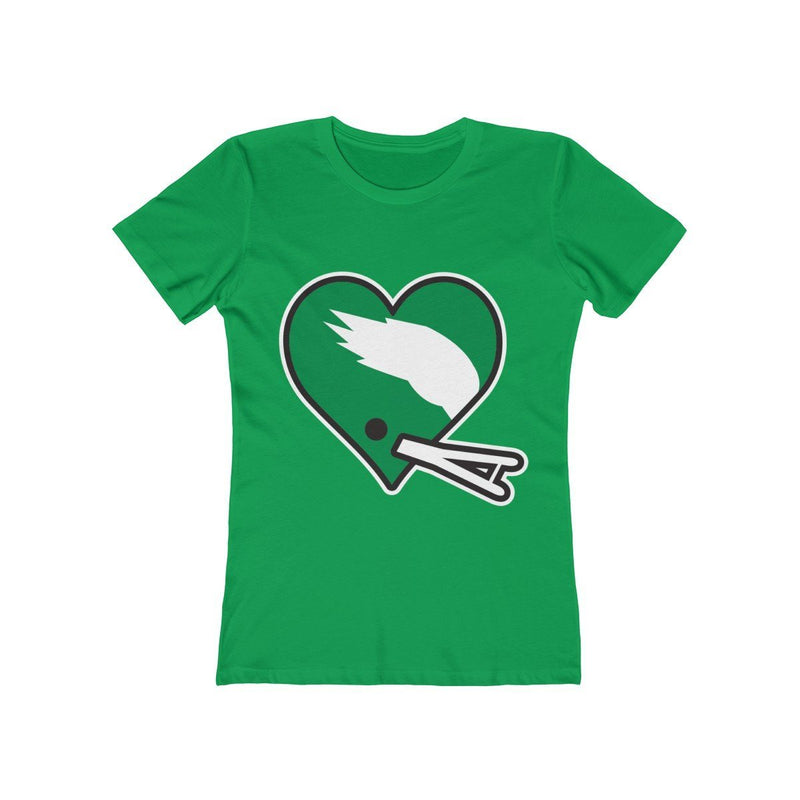 Football Heart (W) T-Shirt Printify Solid Kelly Green S