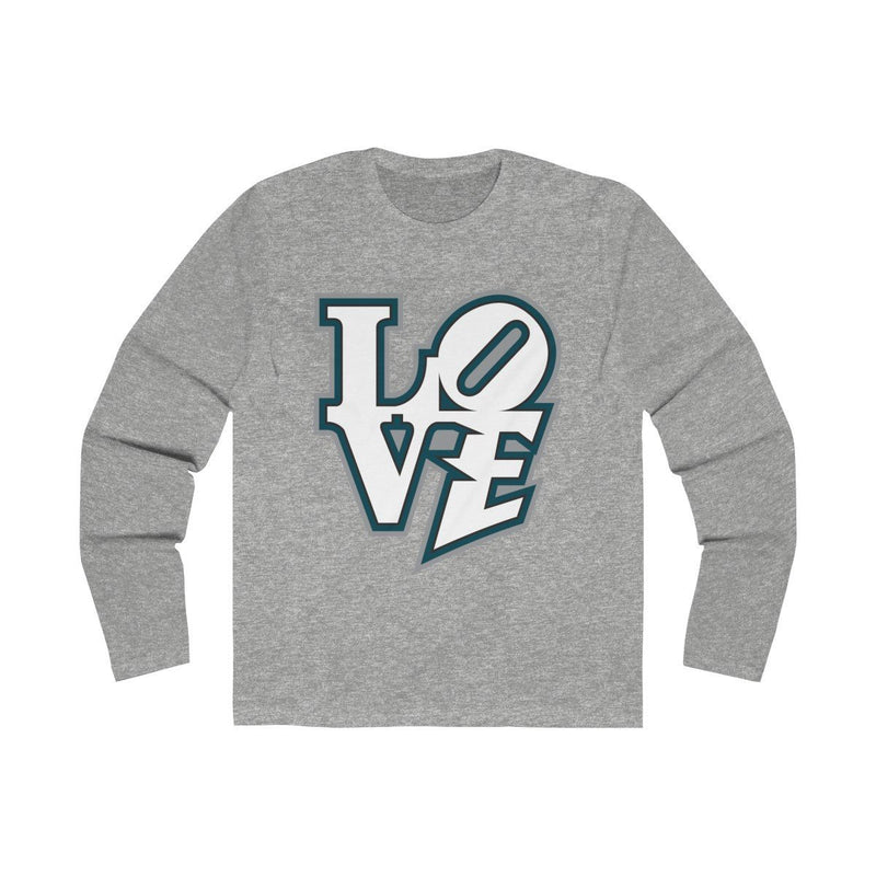 Modern LOVE (Long Sleeve) Long-sleeve Printify Solid Heather Grey L