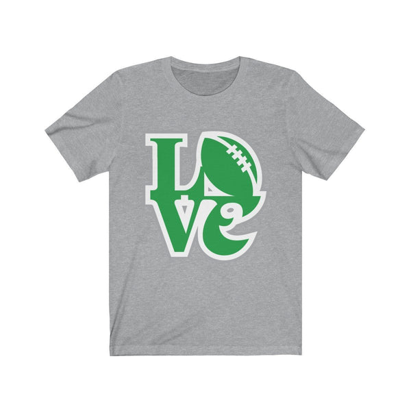 LOVE Eagles T-Shirt Printify Athletic Heather L