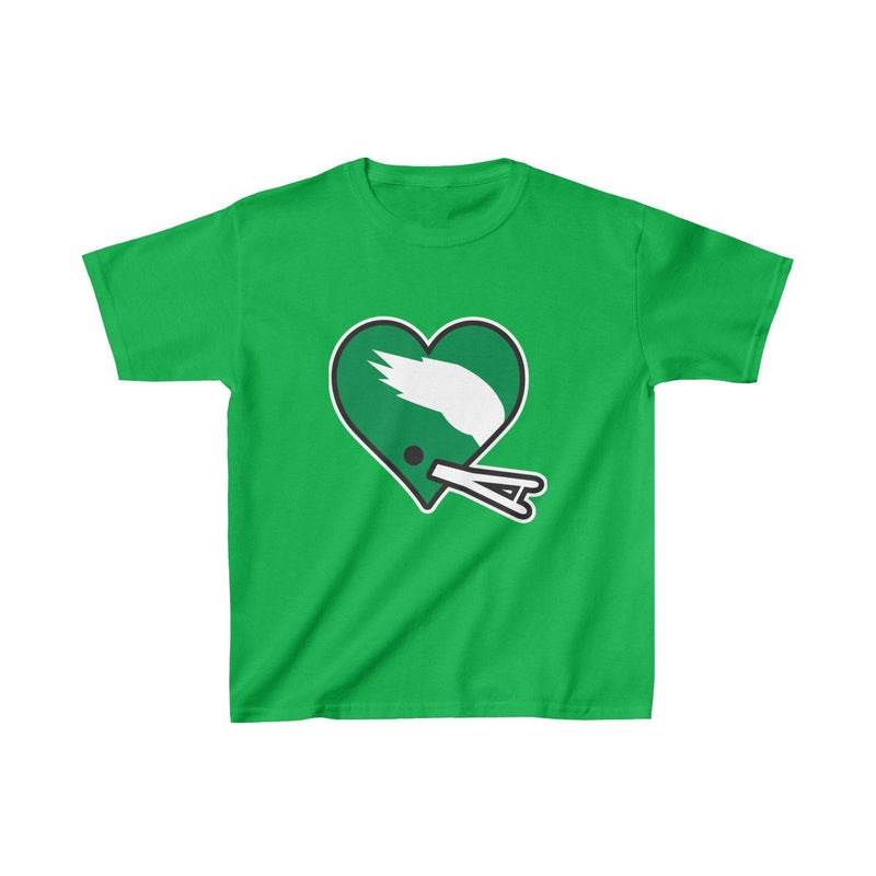 Football Heart (Youth) Kids clothes Printify XS Irish Green