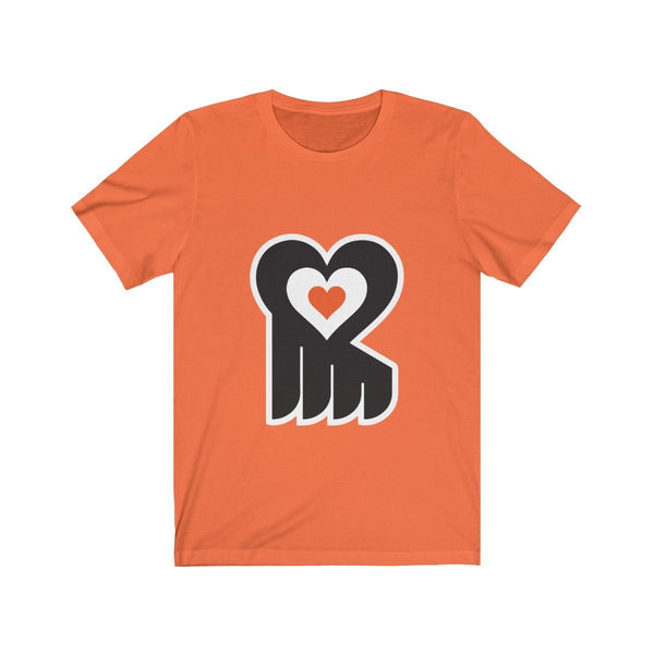 Hockey Heart T-Shirt Printify Orange L