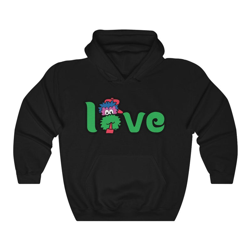 LOVE Hooded Sweatshirt Hoodie Printify Black S