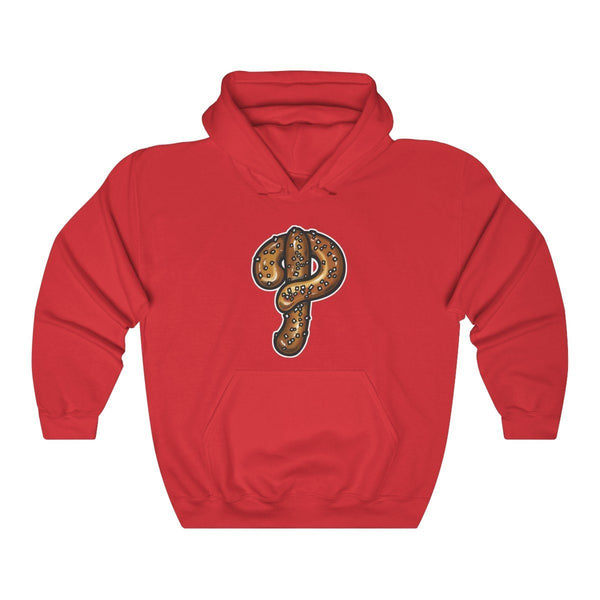 Phillies Pretzel Hooded Sweatshirt Hoodie Printify Red L