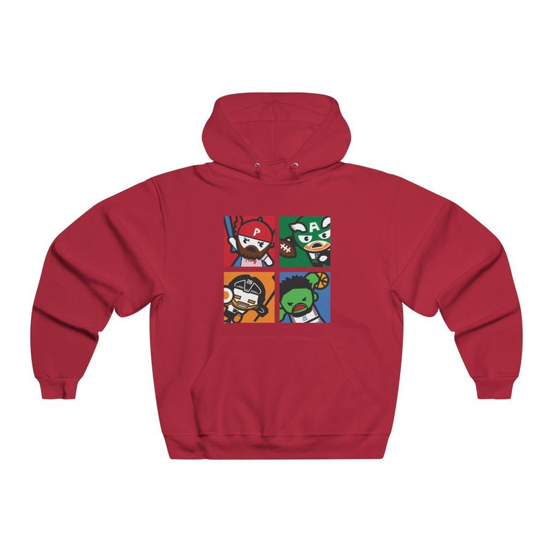 Philly Avengers Hoodie Hoodie Printify True Red S