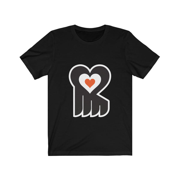 Hockey Heart T-Shirt Printify Black XS