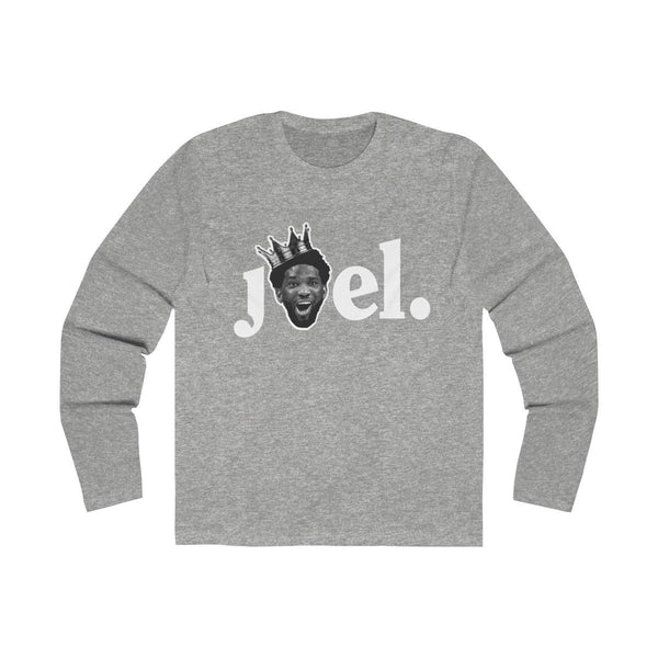 JOEL (Long Sleeve) Long-sleeve Printify Solid Heather Grey S