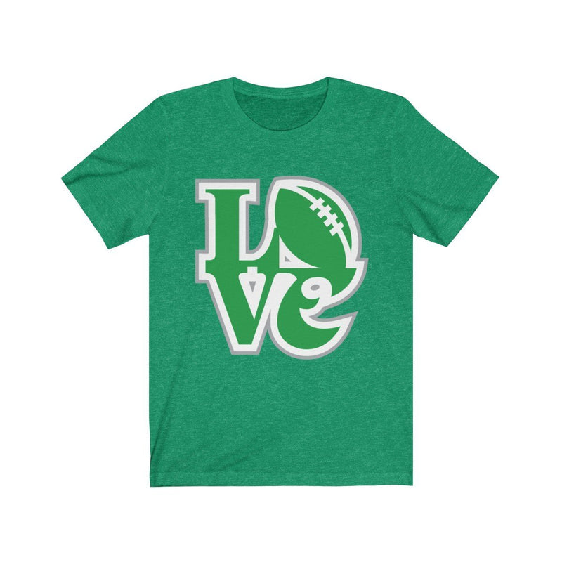 LOVE Eagles T-Shirt Printify Heather Kelly XS