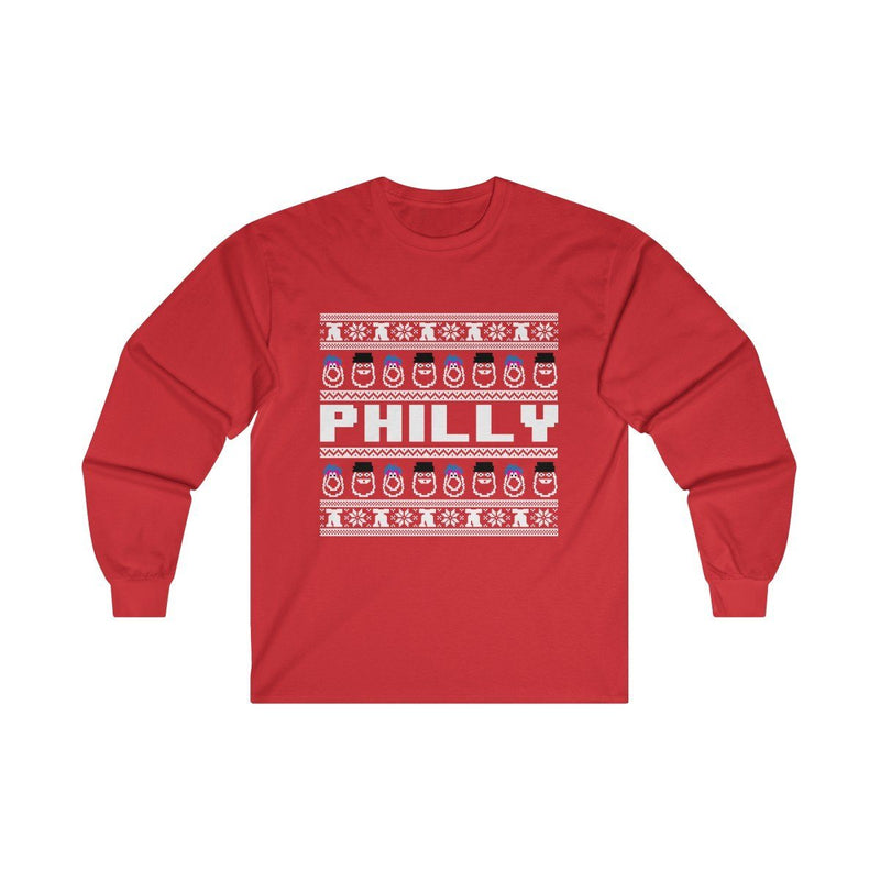 Ugly Sweater Long Sleeve Long-sleeve Printify Red S