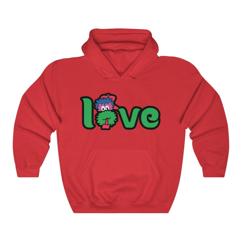 LOVE Hooded Sweatshirt Hoodie Printify Red S