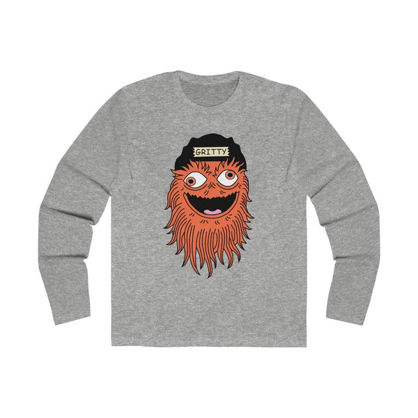 Gettin Gritty With It (Long Sleeve) Long-sleeve Printify Solid Heather Grey L