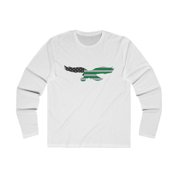 Eagles Flag (Long Sleeve) Long-sleeve Printify Solid White S