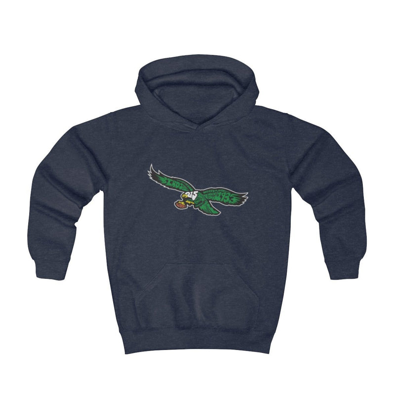 Eagles Words Hoodie (Youth) Kids clothes Printify Navy Heather S (2-4yr)