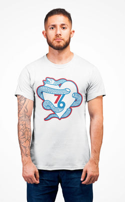 Sixers Snake Heart T-Shirt Phan Tees Solid White L