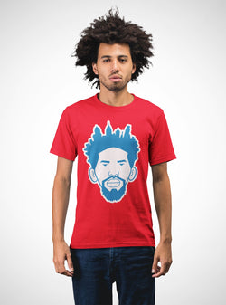 Trust the Process Skyline T-Shirt Phan Tees Solid Red XS
