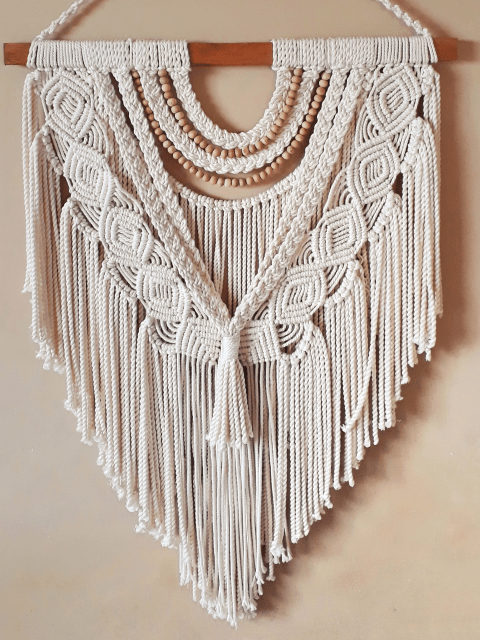 Bead Layered Macrame Wall Hanging