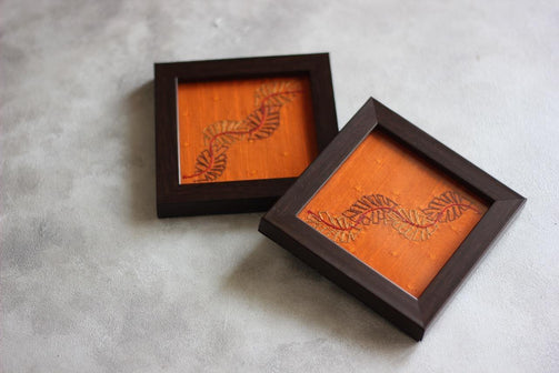 Orange Solid Leaf Twirl Resham Copper - CraftWeaver's Studio