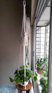 Macrame Floating Plant Hanger - Design 2 - CraftWeaver's Studio